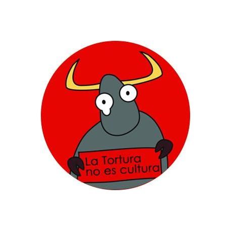 "Chapa Antitaurina ""Toro y cartel"""