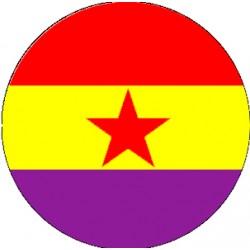 Chapa Bandera Republicana Estrella