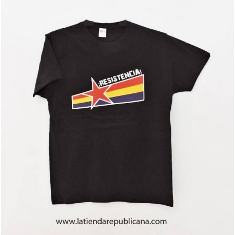 Camiseta Republicana Resistencia! Negra
