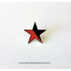 Pin Estrella Roja/Negra