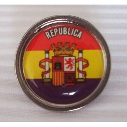 Pin Republicano Redondo con Escudo