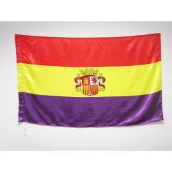 Bandera Republicana con Escudo (Raso)
