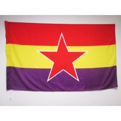 Bandera Republicana con la Estrella del Ejército Popular (Mate)
