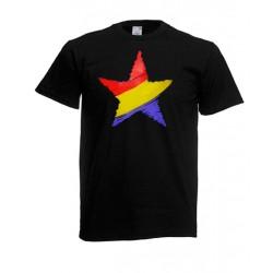 Camiseta Estrella Republicana Negra