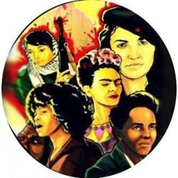 """Chapa feminista """"Mujeres"""""""