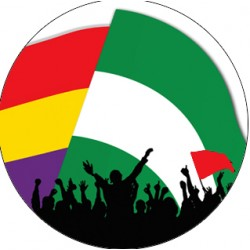 Chapa Bandera Andaluza Republicana