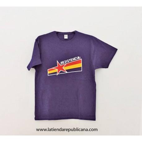 Camiseta Republicana Resistencia! Morada