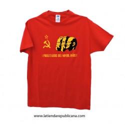 "Camiseta ""Proletarios del mundo"""