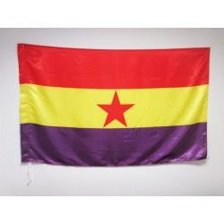Bandera Republicana Estrella Roja (Satén)