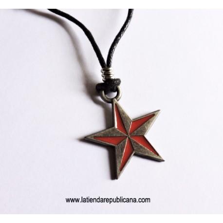 Colgante estrella metálica revolucionaria - Náutica - URSS