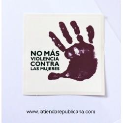 """Pegatina """"No más violencia"""""""