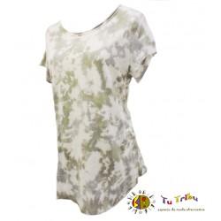 Camiseta m/c batik verde y gris