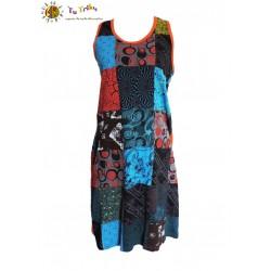 Vestido tirantes patch multicolor