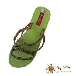 Sandalia hindú verde