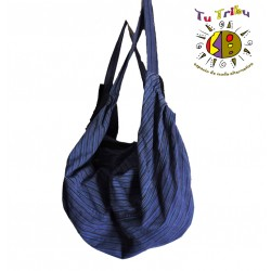 Bolso/mochila hippie azul