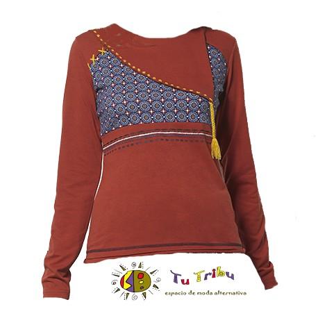 Camiseta cordón roja m/l