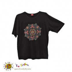 Camiseta chico m/c bordado mandala