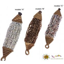 Pulsera crochet y cuentas.