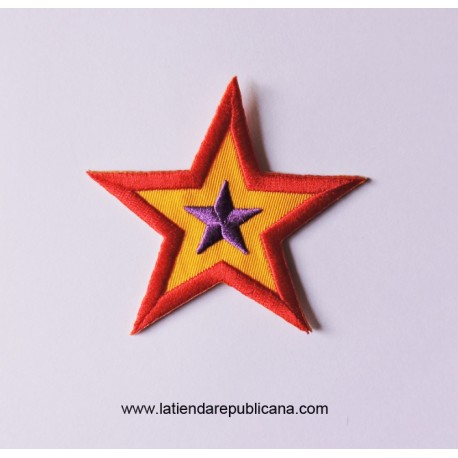 Parche Estrella Tricolor