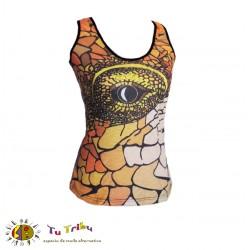 Camiseta tirantes ojo serpiente