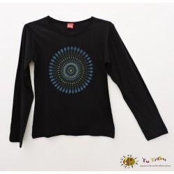 Camiseta negra m/l mandala.