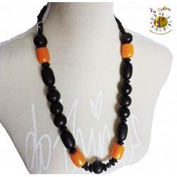 Collar negro naranja