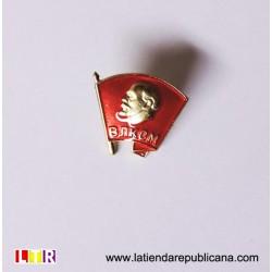 Pin Lenin bandera ondeante