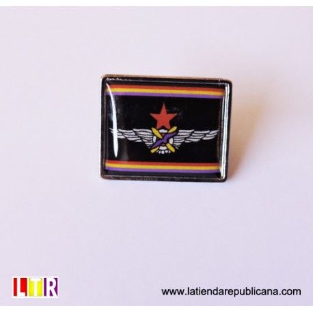 Pin rectangular insignia aviación republicana.