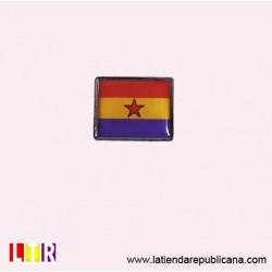 Pin rectangular República con estrella