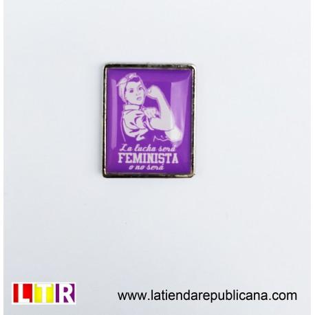 Pin Rectangular Lucha Feminista