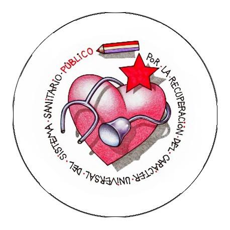 Chapa Corazón Sanidad Pública