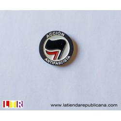 Pin Acción Antifascista (Bandera Negra)