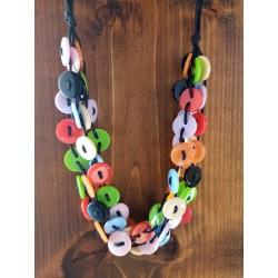 Gargantilla botones multicolores