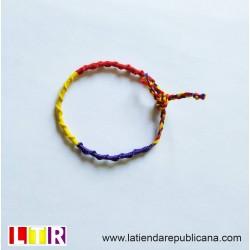 Pulsera republicana artesanal