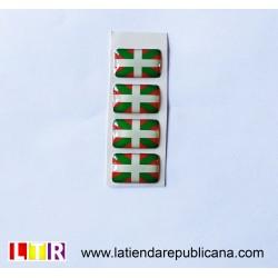 Pegatina de resina Euskal Herria (pequeña)