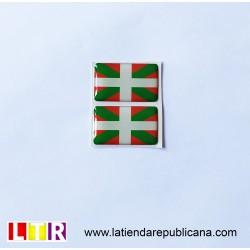 Pegatina de resina Euskal Herria