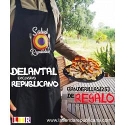 Delantal de cocina ¡Salud y República! + BANDERILLAS (25) GRATIS