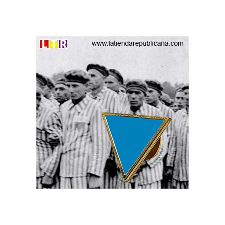 Pin Triángulo Invertido Azul
