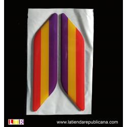 Pegatina de resina bandera republicana romboide