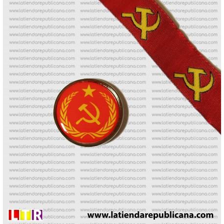 Pin Comunista Redondo insignia laureada