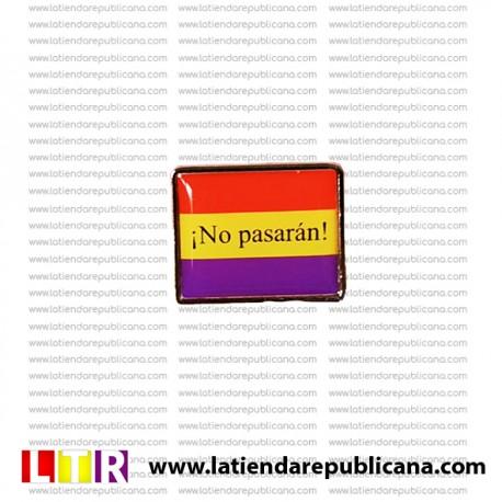 Pin bandera ¡No pasarán!