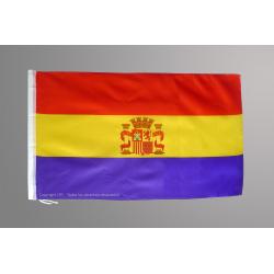 Bandera Republicana con escudo (económica)