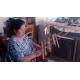 Pulsera republicana de lana hecha a mano
