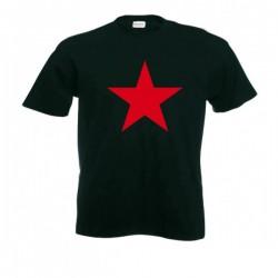 Camiseta Negra Estrella Roja