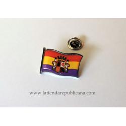 Pin Bandera Republicana con Escudo