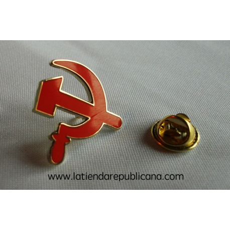 Pin Hoz y Martillo Rojo